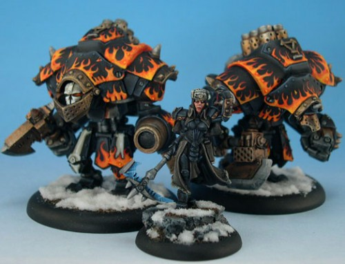 Khador in flames